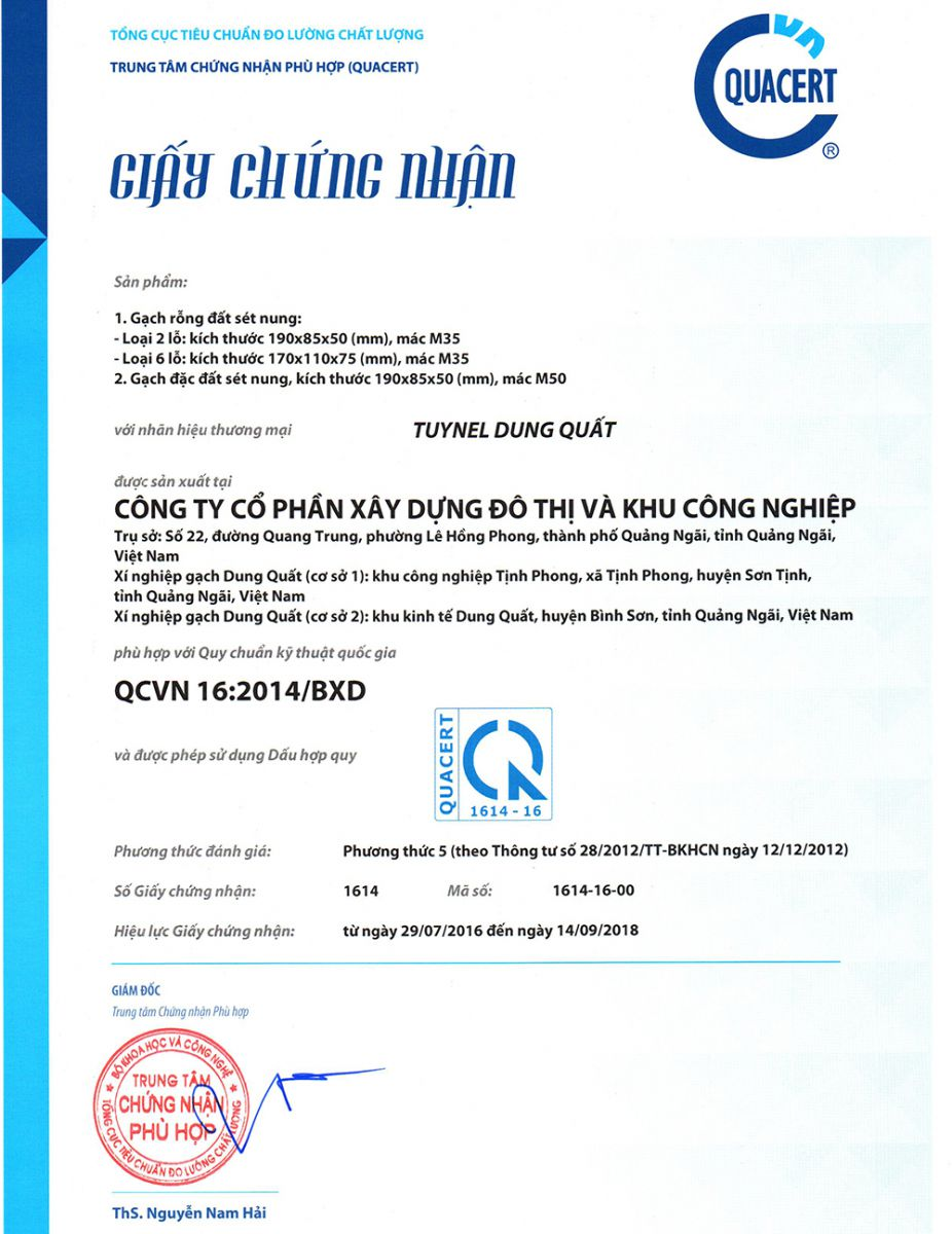 xis nghiệp gạch tuynel dung quất